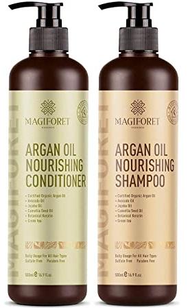 Argan Oil Shampoo and Conditioner Set - MagiForet Organic